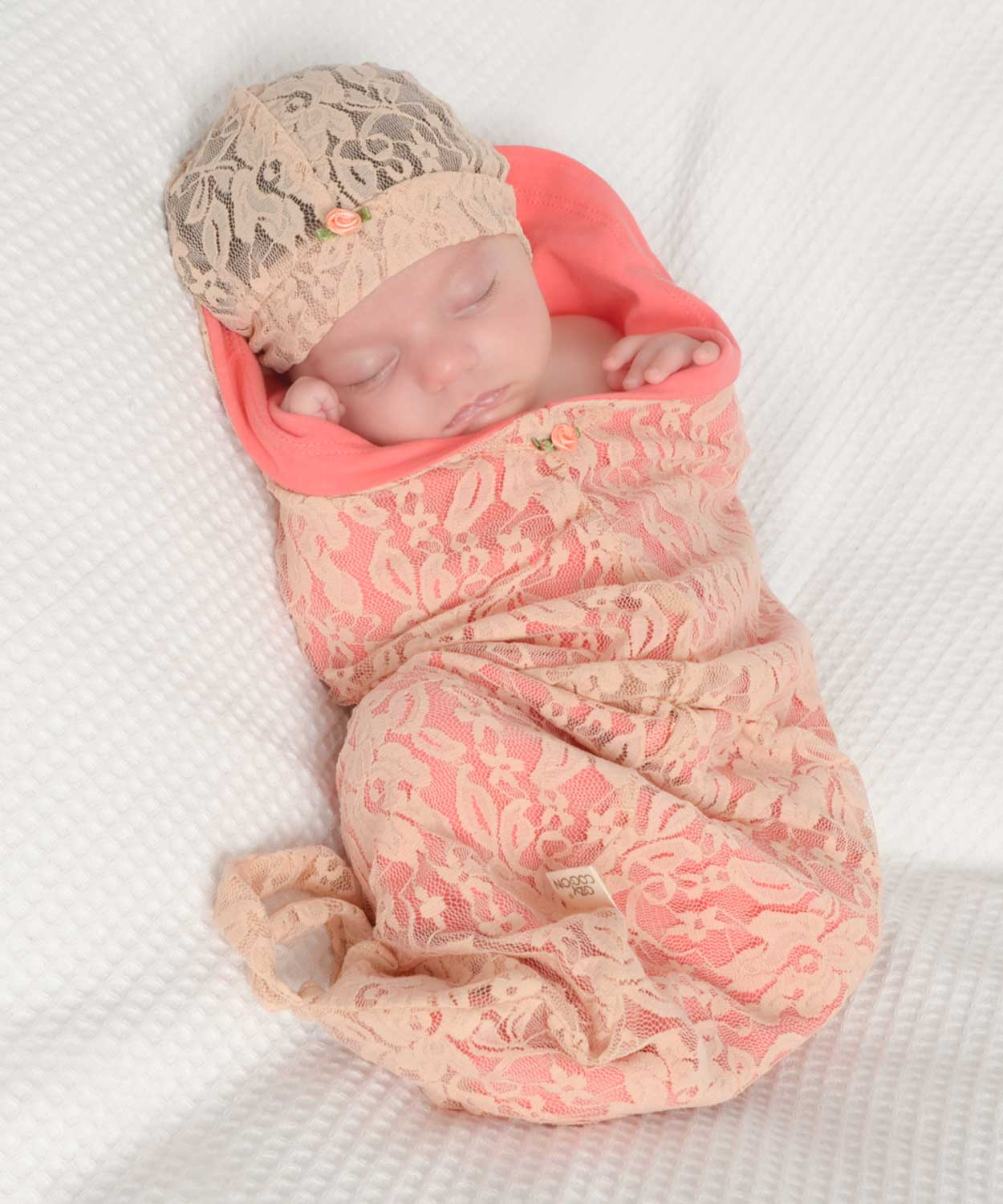 Blossoms & Lace Peach-Cozy Cocoon