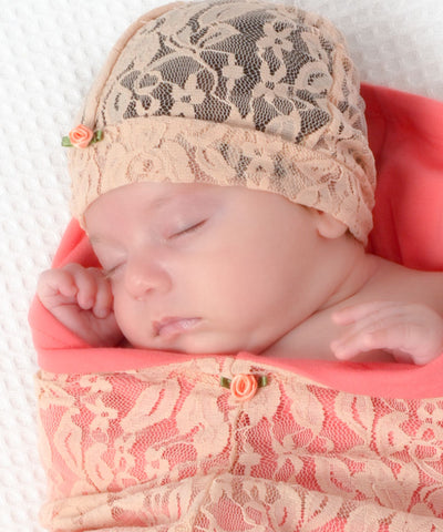 cozy-cocoon-Blossoms & Lace Peach