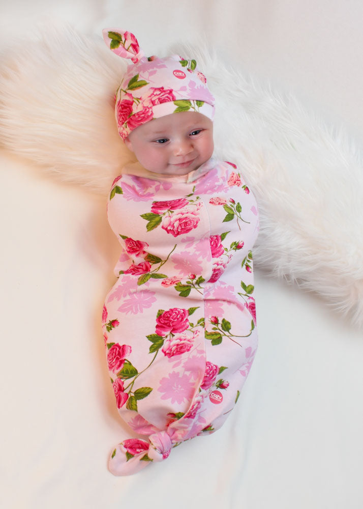Cozy Twist Floral with Hat-Cozy Cocoon