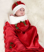 Velour Rose Red-Cozy Cocoon