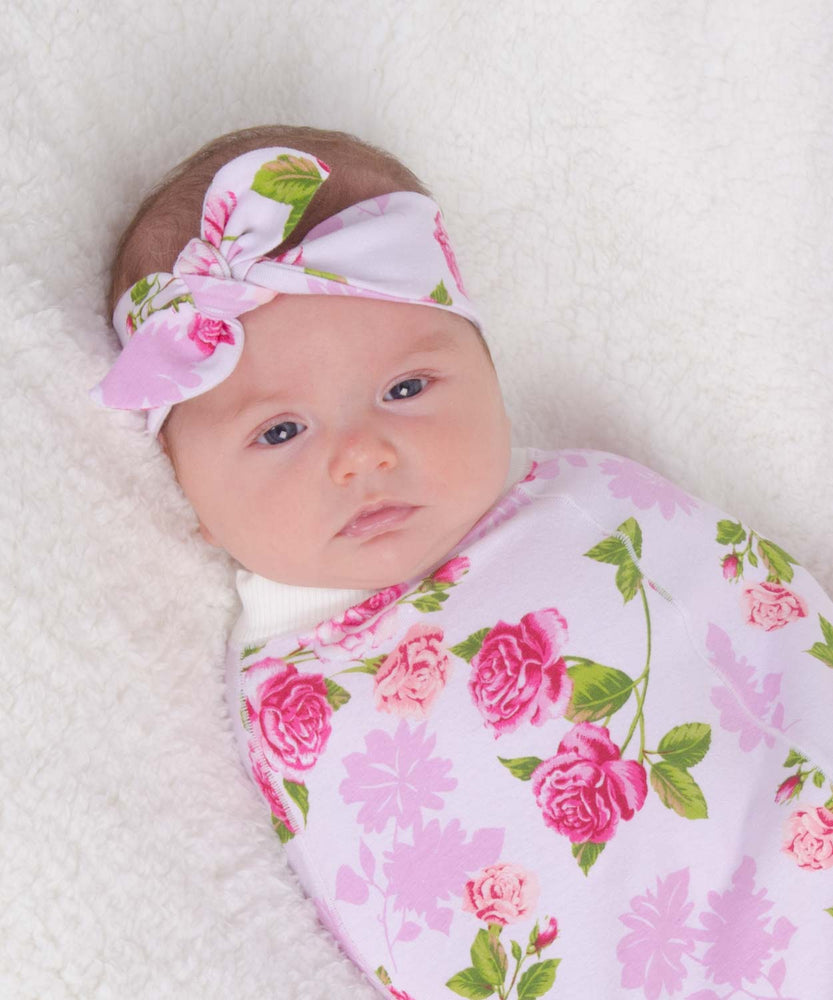 Floral Cocoon & Bow Set-Cozy Cocoon