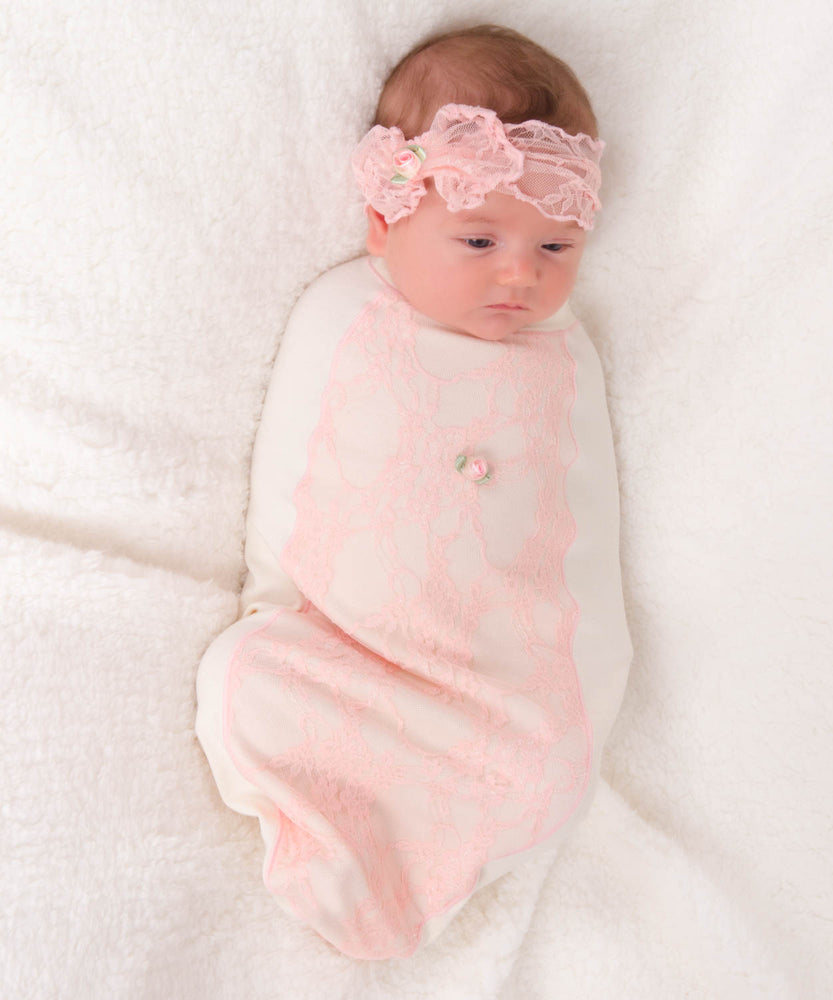 Frilly Pink Bow Set-Cozy Cocoon