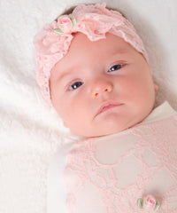 cozy-cocoon-Frilly Pink Bow Set
