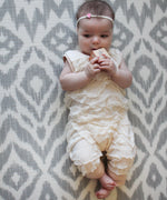 Ivory Ruffle Romper-Cozy Cocoon