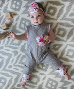 Flowers & Polka Dots Romper-Cozy Cocoon