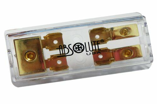 Absolute Gold AGU Style Fuse Power or Ground 2 Gang Distribution Fuse Block