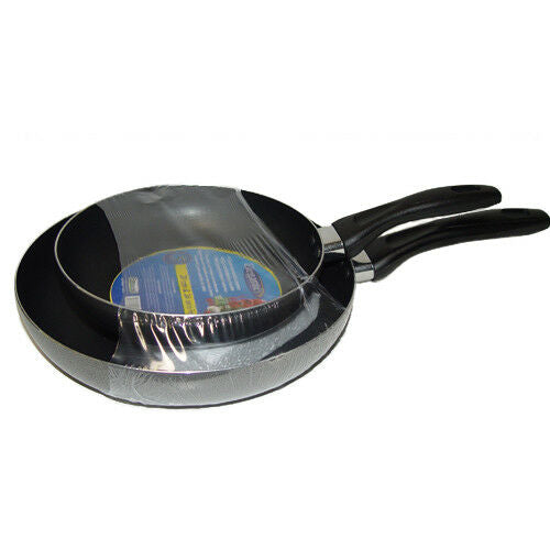 2pc fry pan set with long handle cookware, 20 cm & 26cm, 3 layer non-stick