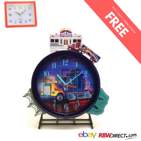 "Action Truck Sound Wall Clock,Upperlight,121/2""L 16''H X 4 1/2''W FREE SHIPPING"