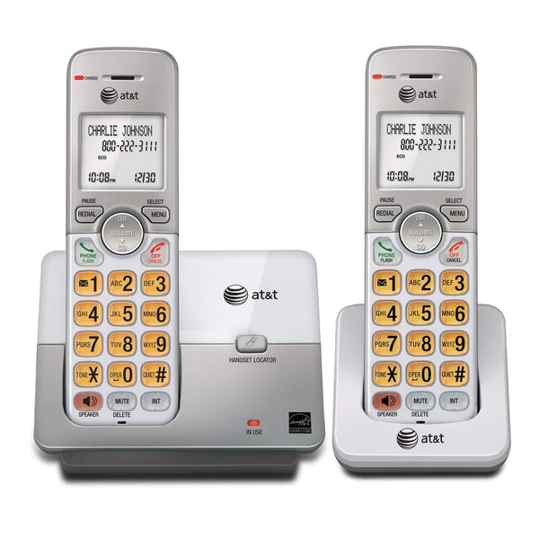 AT&T DECT 6.0 Phone with Caller ID/Call Waiting-2 Cordless Handsets-Silver Color
