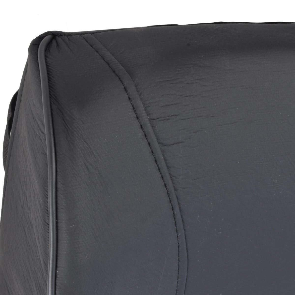 BDK Universal Fit Cushioned Back Car Support Lumbar - (Black)