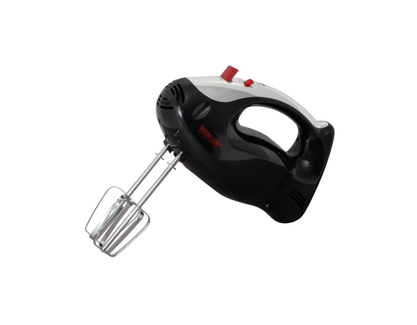 Better Chef 5-SPD Turbo Mixer With Chrome Accents - Black Color - Ergonomic Hand