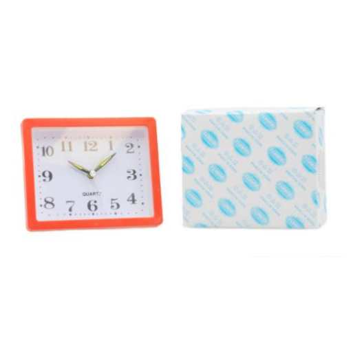 Alarm Clock, Blue Color, 5'' L X 4'' H X 2 '' W - FREE SHIPPING