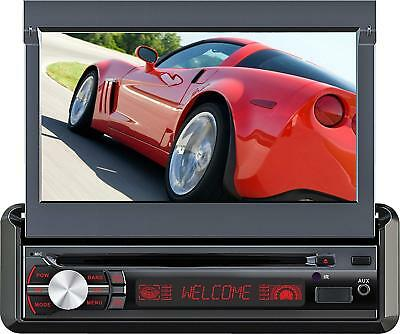 "7"" in Dash Motorized Car Stereo,GPS w/Us,Canada,Mexico Maps,Bluetooth,USB,DVD"