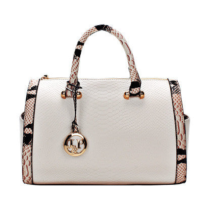 Serpentine Leather Handbag Shoulder Bag