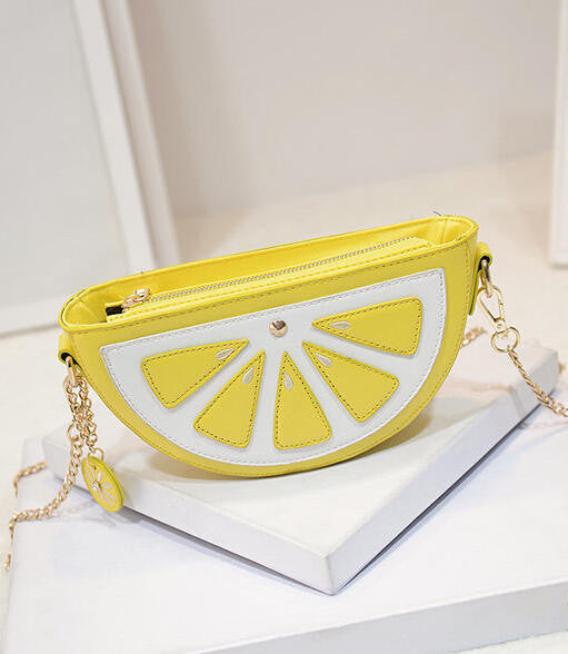 Lemon Shaped Clutch Bag