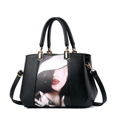 Vintage Lady Tote Beauty Printing Shoulder Bag