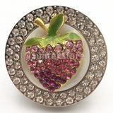 Purse Handbag Hanger Holder Strawberry Rhinestone