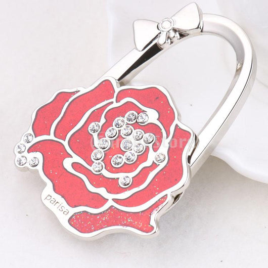 Purse Handbag Hanger Holder Rose Shape