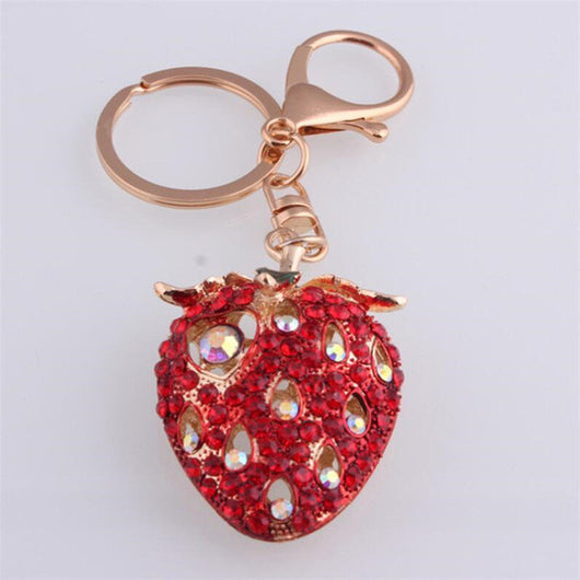 Pendant Handbag Keychain Strawberry Charm