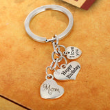 Pendant Keyring with Quote Love You Birthday