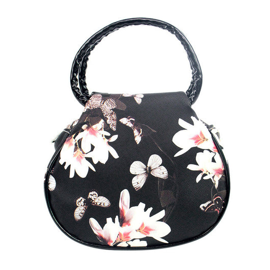 Tote Bag Butterfly print with Top Handle in 6 various colors