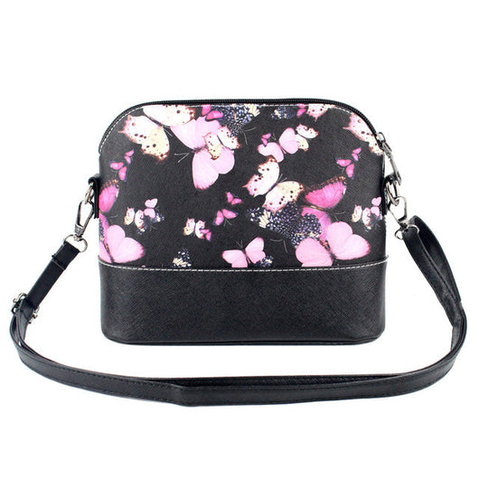 Shoulder Crossbody Tote Bag with Butterfly print