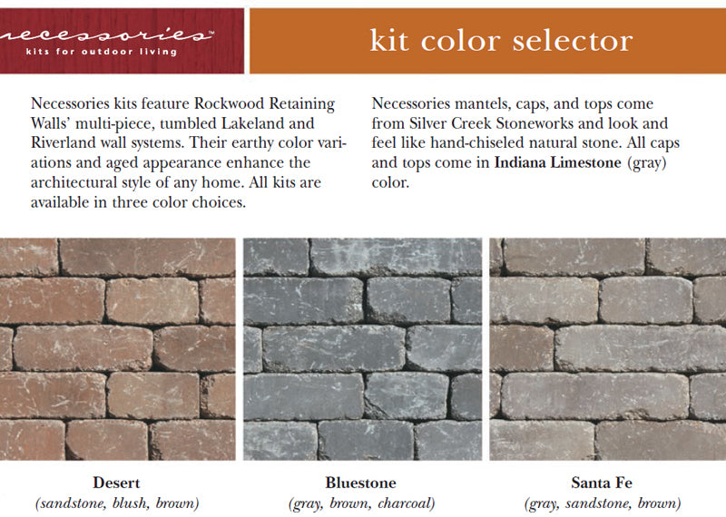 Outdoor Fireplace Kits Stone Colors