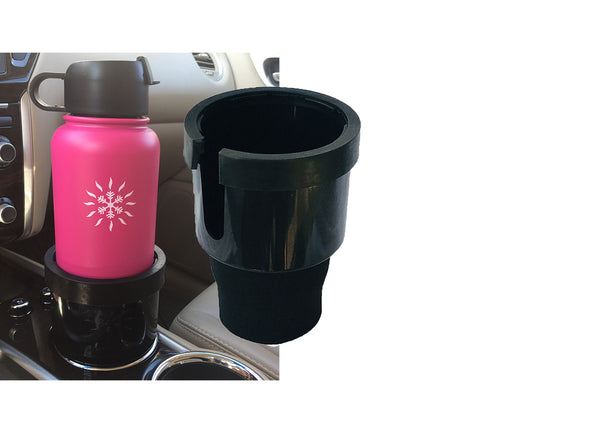 Smart Flask Cup adapter for 32oz and 40oz Flasks and Bottles. Includes Sizing Ring and Fitting Sleeve for a better fit.