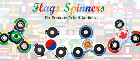 World Flags Spinners