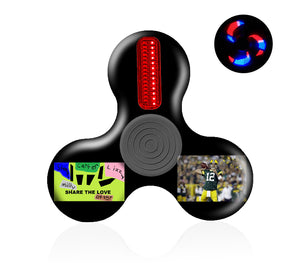 Custom Text LED Light Up Spinner