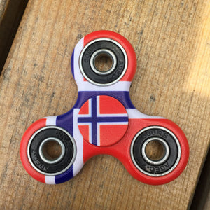 Norway Flag Focus Spinner - Custom Fidget spinners - Fidget Widgets
