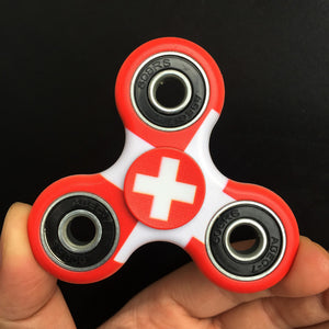 Switzerland Flag Focus Spinner - Custom Fidget spinners - Fidget Widgets