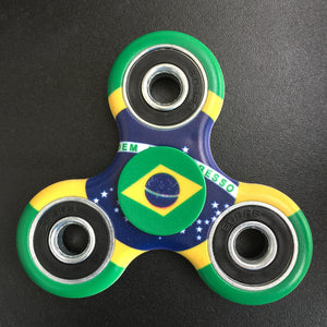 Brazil Flag Focus Spinner - Custom Fidget spinners - Fidget Widgets