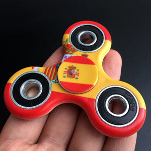 Spain Flag Focus Spinner - Custom Fidget spinners - Fidget Widgets