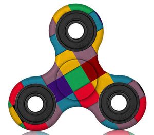 Disco Squares Plastic Fidget Spinner (Limited Edition)