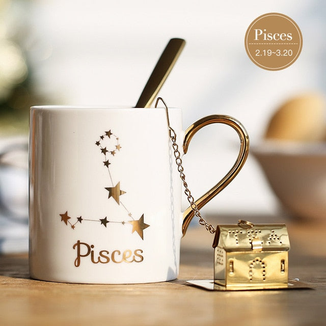 Porcelain Constellation Theme Lucky Mug