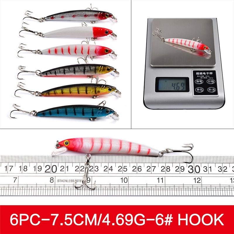 56 pcs/lot Lure kit Set Fishing Lure Bait