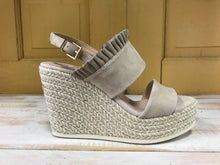Kanna - Ruffle Espadrille Wedge - Light Taupe