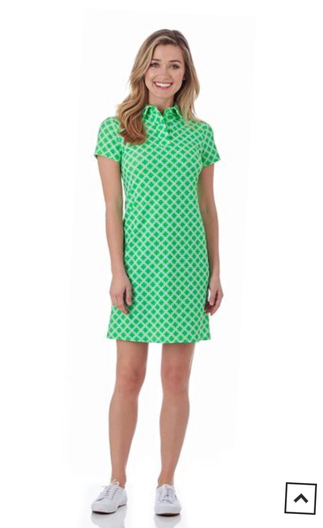 Jude Connally - Emily Polo Dress - Linked Lattice Grass
