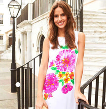 Jude Connally- Melody Shift Dress in Painted Floral White