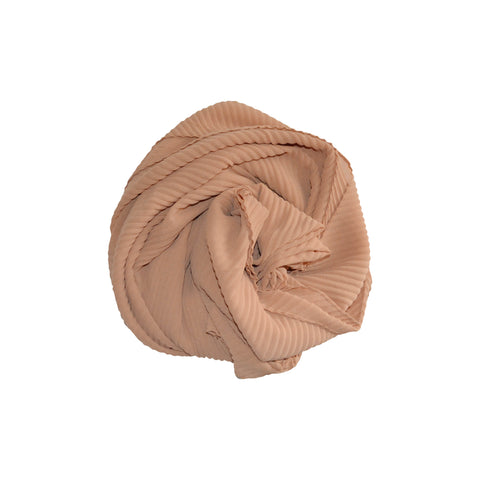 Pleated Hijab (Camel) - Muhmin1