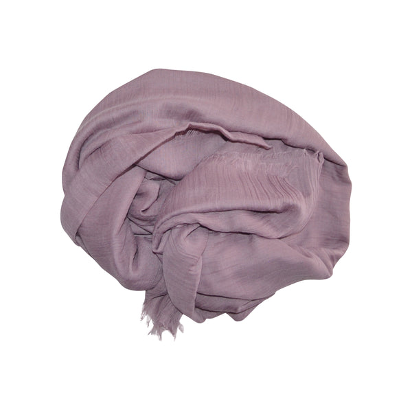 Cotton Silk Hijab (Mauve) - Muhmin1