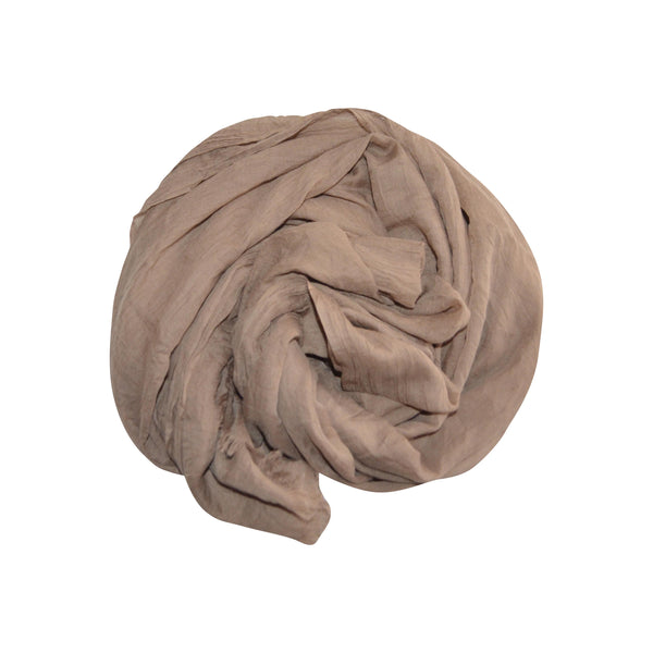 Cotton Silk Hijab (Mocha) - Muhmin1