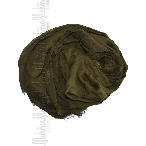 Cotton Silk Hijab (Khaki) - Muhmin1