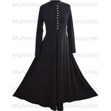 Essential Diamante abaya (Black) - Muhmin1
