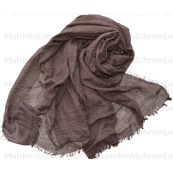 Prime Crimp Hijab (Brown) - Muhmin1