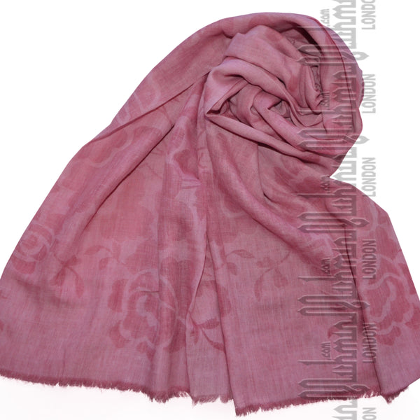 Premium Self Print Hijab (French Rose) - Muhmin1