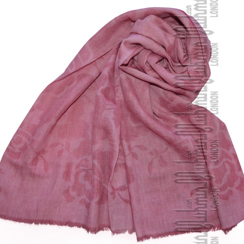 Premium Self Print Hijab (French Rose)