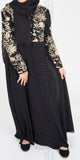 Hina Embroidered abaya (Gold) - Muhmin1