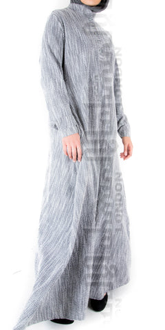 Madia Winter Abaya (Grey)
